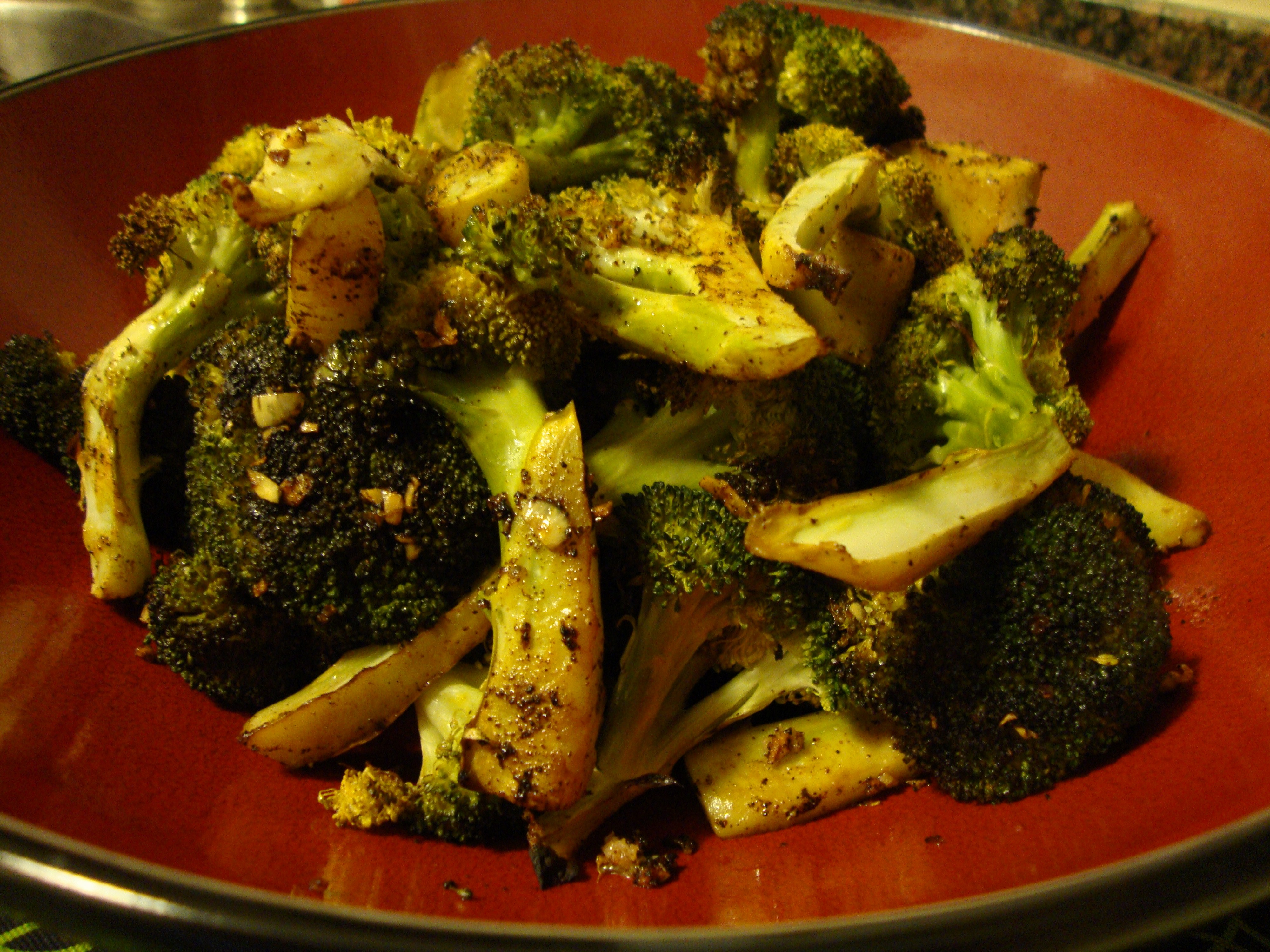 smashed garlic roasted broccoli garlic roasted broccoli roasted garlic ...