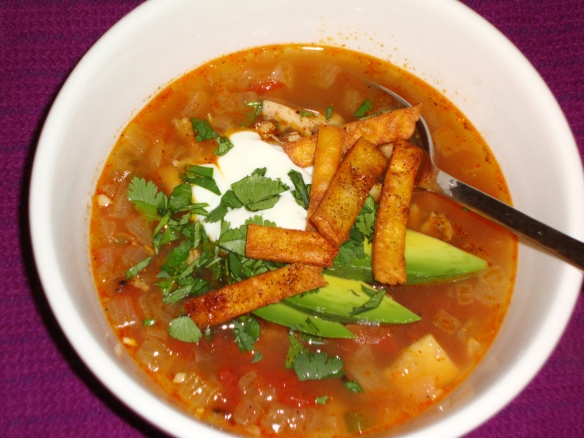 Grilled Chicken Tortilla Soup with Tequila Crema | Taste by Taste